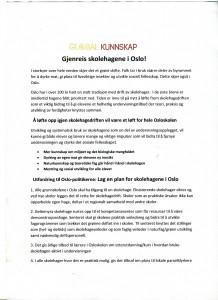 Opprop om skolehager i Oslo